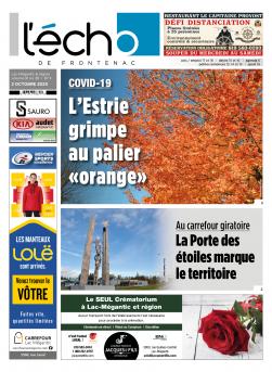 Volume 91 no 39 - 2 octobre 2020 : L'Écho de Frontenac : Journal en ligne