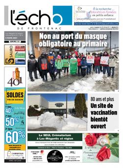 Volume 92 no 9 - 5 mars 2021 : L'Écho de Frontenac : Journal en ligne
