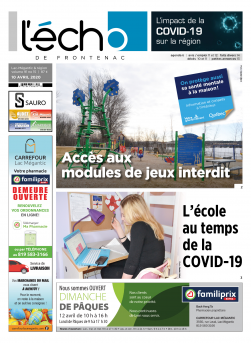 Volume 91 no 15 - 10 avril 2020 : L'Écho de Frontenac : Journal en ligne