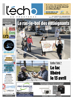 Volume 92 no 15 - 16 avril 2021 : L'Écho de Frontenac : Journal en ligne