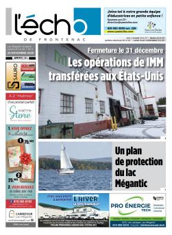 Volume 91 no 46 - 20 novembre 2020 : L'Écho de Frontenac : Journal en ligne