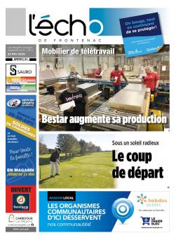 Volume 91 no 21 - 22 mai 2020 : L'Écho de Frontenac : Journal en ligne