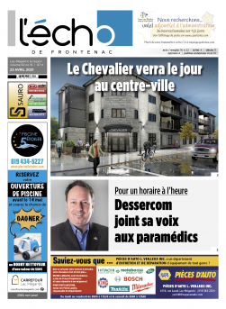 Volume 92 no 16 - 23 avril 2021 : L'Écho de Frontenac : Journal en ligne