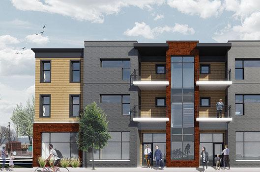 Début  d'une nouvelle  construction rue Frontenac - Claudia Collard : Actualités