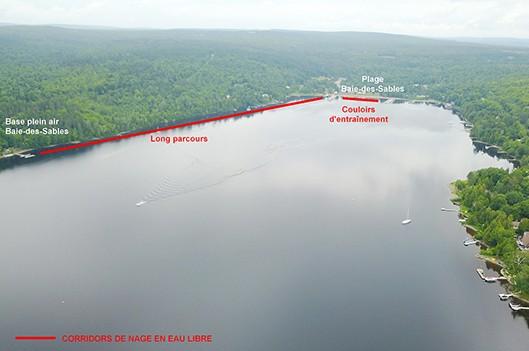 Des corridors de nage en eau libre dans le lac Mégantic - Claudia Collard : Actualités Municipalité
