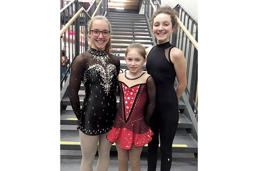 Trois patineuses aux provinciaux -   : Sports Patinage artistique