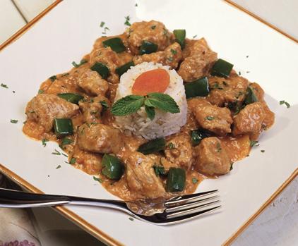 Recettes : Doux curry de porc aux abricots